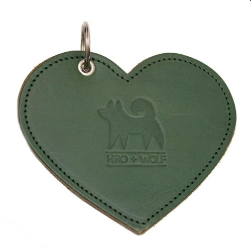 Sydän kakkapussikotelo vihreä