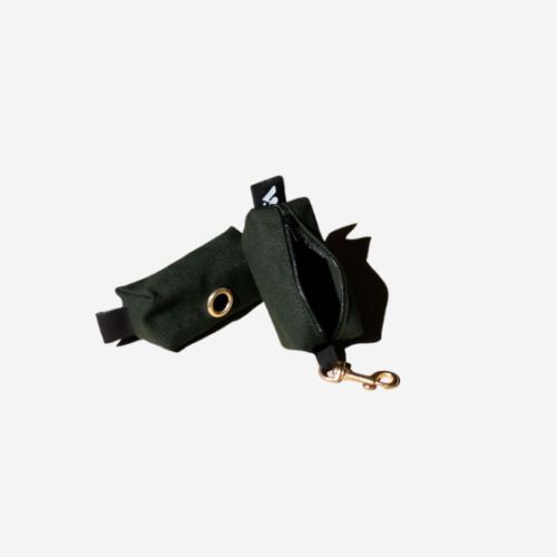 Tyylikäs tumman vihreä kakkapussikotelo koiralle